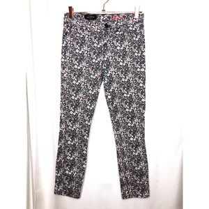 J. Crew Woman's 25 Toothpick Ankle Floral Jeans